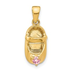 K4652OCT-14k 3-D October/Synthetic Stone Engraveable Shoe Charm