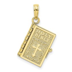 10K8323-10K 3-D Moveable Pages Holy Bible w/ Lords Prayer Charm