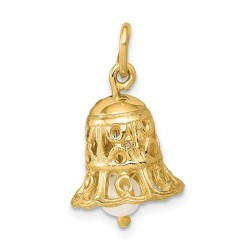 XAC278-14k Wedding Bell with FW Cultured Pearl Charm
