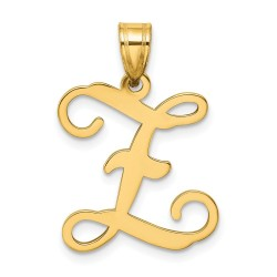 XNA518Y/Z-14KY Casted High Polished Initial Letter Z Pendant