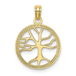 10K7139-10K 3-D SMALL TREE OF LIFE IN ROUND FRAME Charm