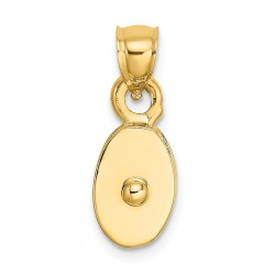 C2479-14k Polished 3-Dimensional Moveable Pulley Charm