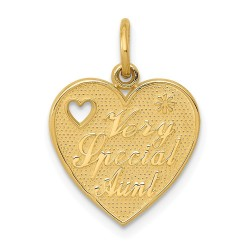 C1728-14k Very Special Aunt Charm